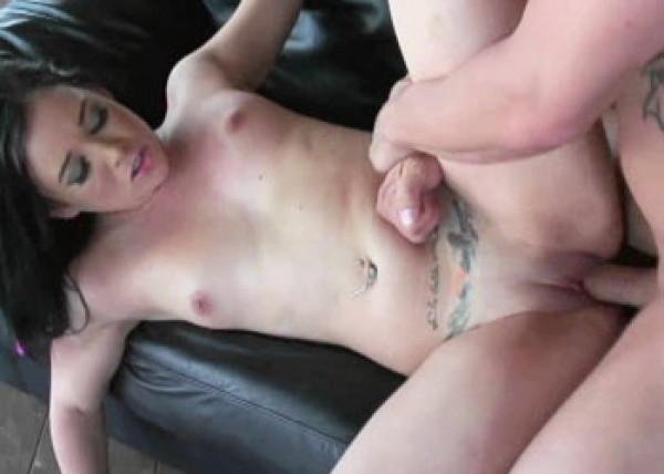 Teen slut Amy gets her twat filled with cum