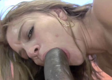 Blonde Kirra takes some black dick