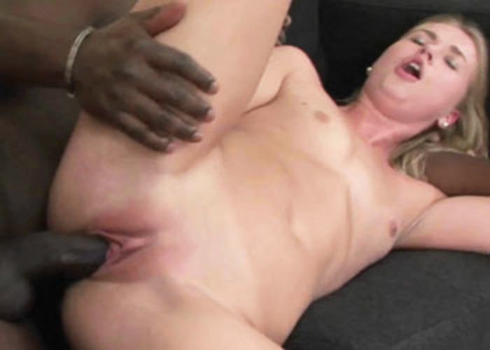 Violette Pure pounds a big black dick