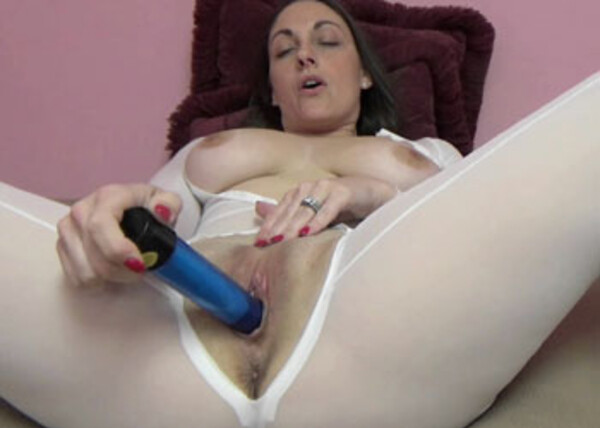 Melanie's masturbating with her vibrator