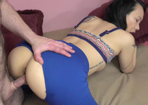 Zoe Lark screws in her torn leggings