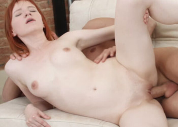 Lili Fox's tight snatch is filled with cum